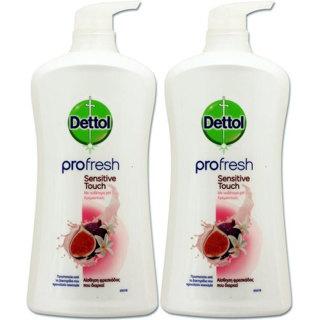 Dettol Πακέτο Προσφοράς Profresh Sensitive Touch Αφροντούς για Αίσθημα Φρεσκάδας 2x950ml 1+1 Δώρο