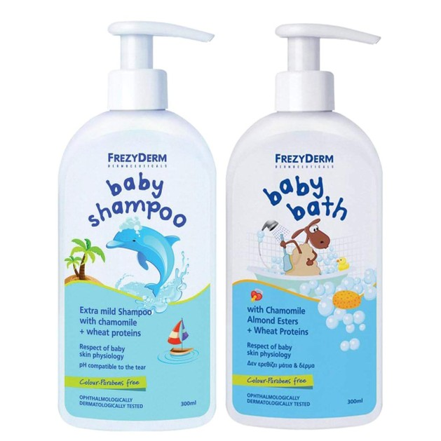 Frezyderm Baby Shampoo Απαλό Σαμπουάν 300ml & Δώρο Baby Bath Απαλό Αφρόλουτρο 100ml