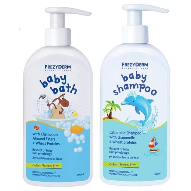 Frezyderm Baby Bath Απαλό Αφρόλουτρο 300ml & Δώρο Baby Shampoo Απαλό Σαμπουάν 100ml