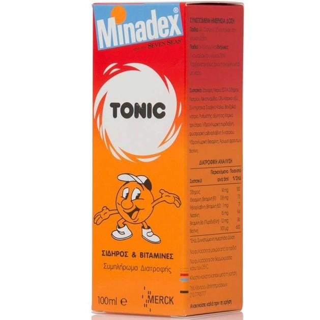 Seven Seas Minadex Tonic Πολυβιταμιχούχο Σιρόπι για τη Φυσιολογική Γνωστική Ανάπτυξη των Παιδιών 100 ml