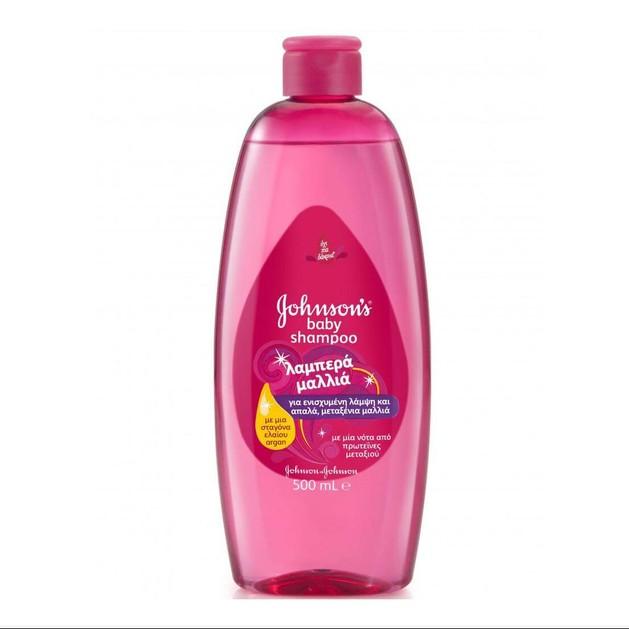 Johnson's Baby Shampoo Λαμπερά Μαλλιά και Γεμάτα Ζωντάνια  500ml