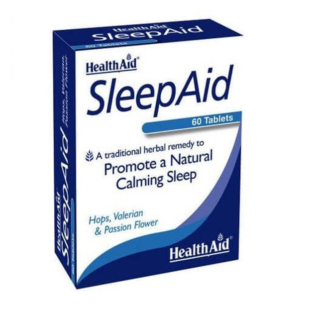 Health Aid Sleep Aid Για Ηρεμο Και Αναζωγονητικό Ύπνο 60 Tabs