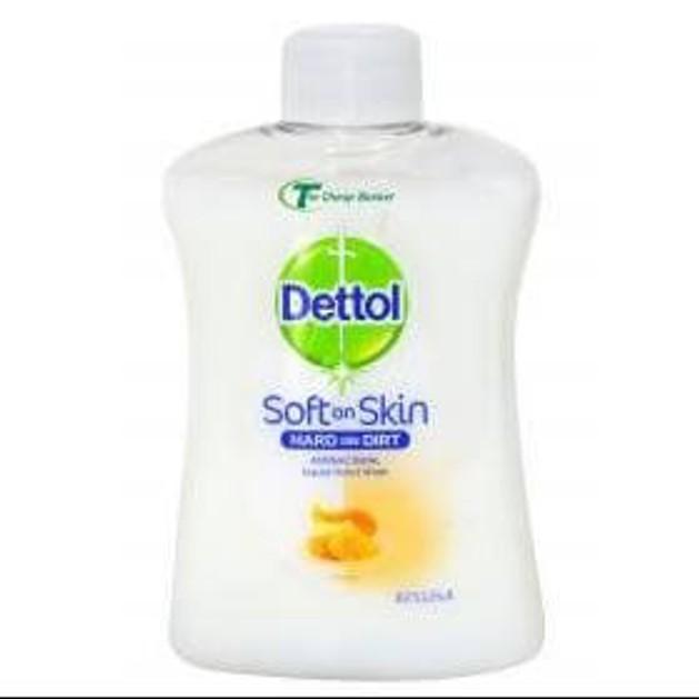 Dettol Ανταλλακτικό Αντιβακτηριδιακό Υγρό Κρεμοσάπουνο με Μέλι 250ml