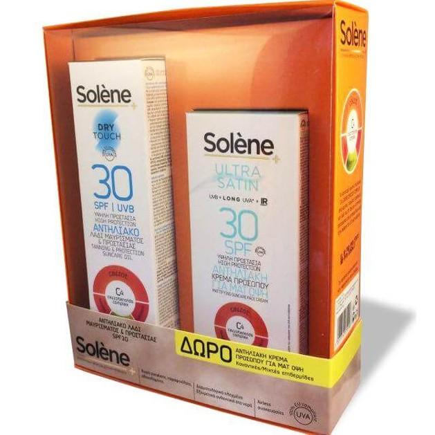 Solene Suncare Taning Oil Dry Touch Spf30 Αντηλιακό Λάδι Σώματος 150ml + ΔΩΡΟ Ultra Satin Face Cream Spf30 50ml