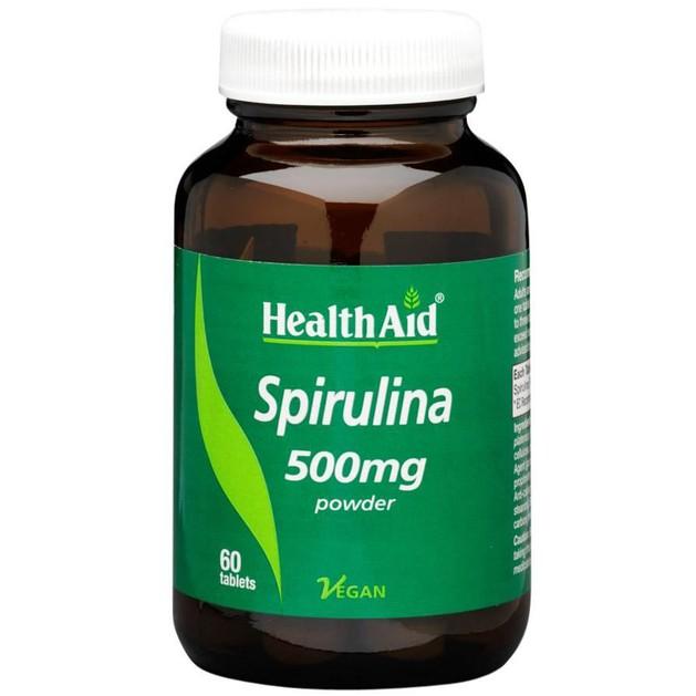 Spirulina 500mg 60Tabs - Health Aid