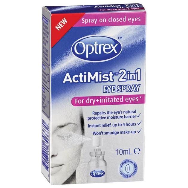 Optrex Actimist Σπρέι 2 σε 1 για Ξηρά & Ερεθισμένα Μάτια, με Διπλή Δράση, Αναζωογονεί & Ανακουφίζει 10ml