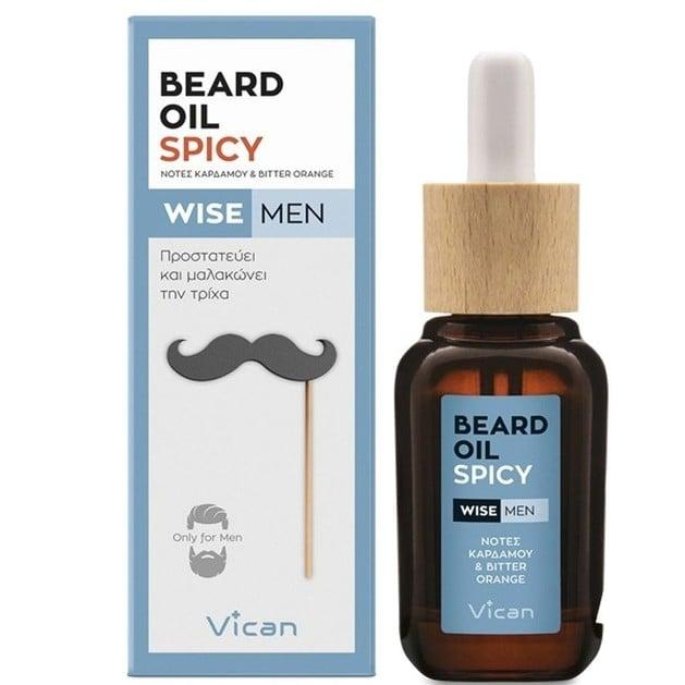 Wise Men Beard Oil Spicy 30ml - Vican