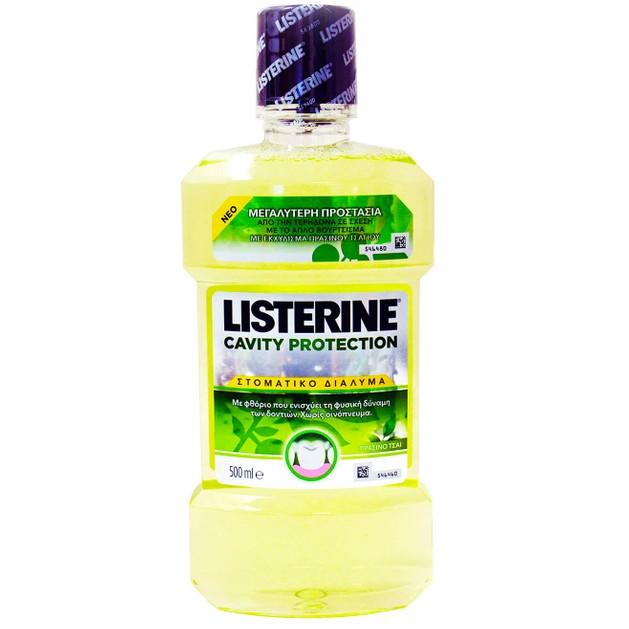 Listerine Cavity ProtectionΣτοματικό Διάλυμα για Προστασία Από την Τερηδόναμε Πράσινο Τσάι 500ml