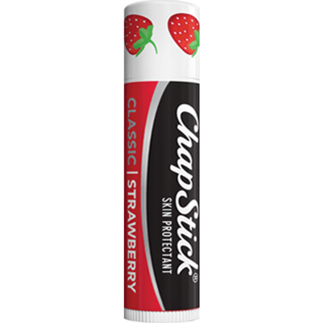 Chapstick Strawberry Lip Balm σε Stick Ενυδατώνει & Προστατεύει Καθημερινά τα Χείλη, με Άρωμα Φράουλα 4gr
