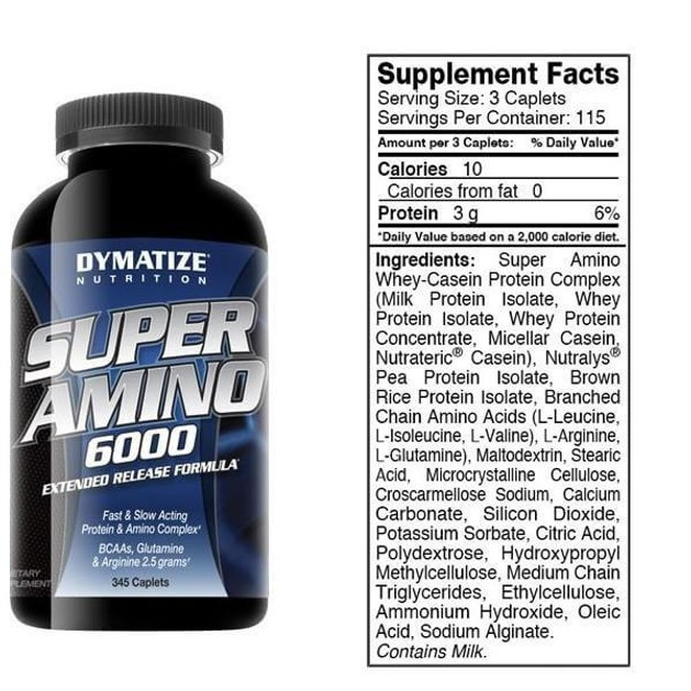 Dymatize Super Amino Εξαιρετική Πηγή Αμινοξέων 6000