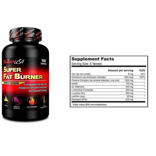 Biotech Usa Super Fat Burner Διώξτε Το Λίπος Και Τα Περιττά Υγρά 100tabs