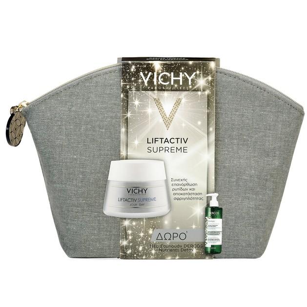 Vichy Πακέτο Προσφοράς Liftactiv Supreme Ξηρές Επιδερμίδες 50ml  & Δώρο Dercos Nutrients Detox Εξισορροπητικό Σαμπουάν 100ml
