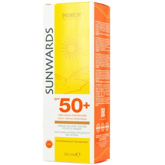 Synchroline  Sunwards Face Cream Teintee Spf50+ Κρέμα Προσώπου Με Χρώμα  50ml