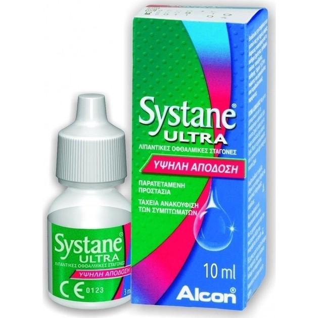 Alcon SYSTANE Ultra Λιπαντικές Οφθαλμικές Σταγόνες 10ml drops
