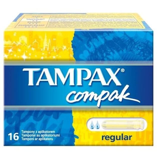 Tampax Compak Pearl Regular 16 τεμάχια