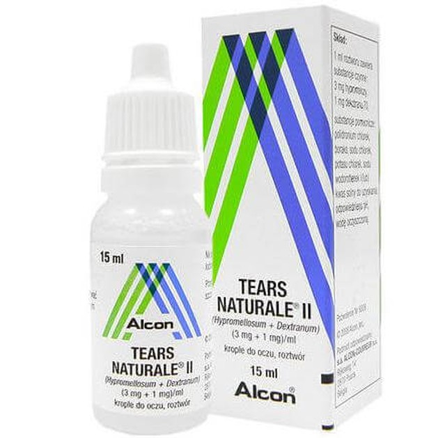 Alcon Tears Naturale II Med Λιπαντικές Οφθαλμικές Σταγόνες για Ανακούφιση απο τα Συμπτώματα της Ξηροφθαλμίας 15ml