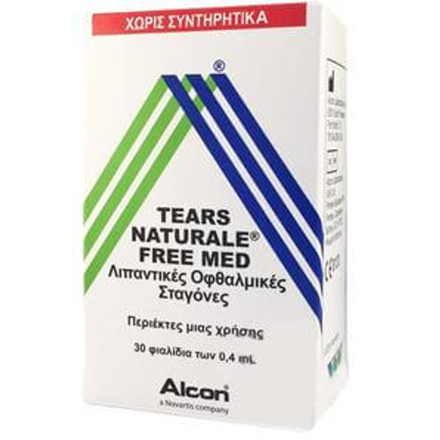 Alcon Tears Naturale Free Med Οφθαλμικές Σταγόνες σε Περιέκτες μιας Χρήσης, για την Ανακούφιση από την Ξηροφθαλμία 30x0.4 ml