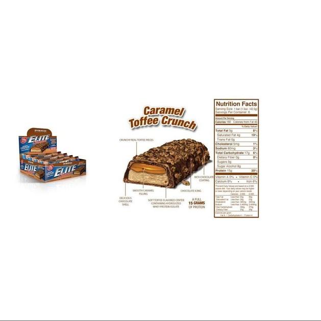 Dymatize Elite Gourmet Protein Bar Μπάρες Πρωτείνης 6x42.5γρ