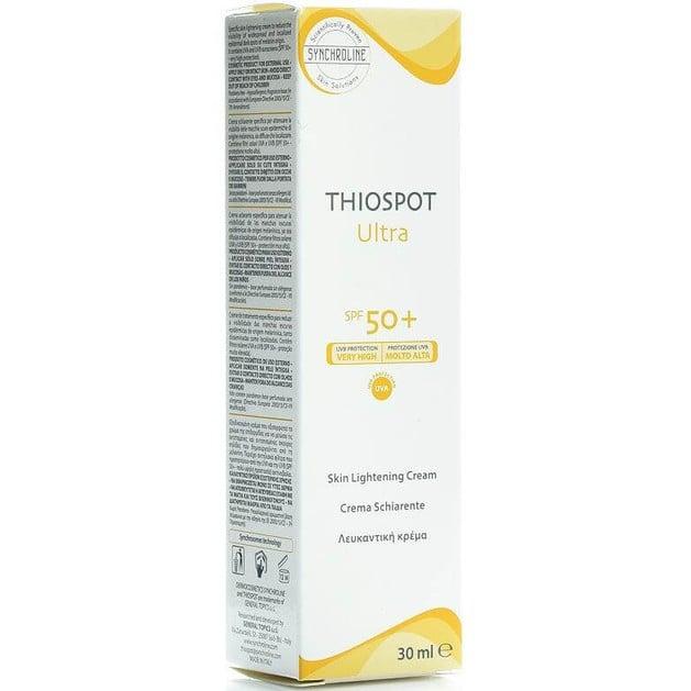 Synchroline Thiospot Ultra Spf50+ Λευκαντική Κρέμα Κατά των Κηλίδων Προσώπου 30ml