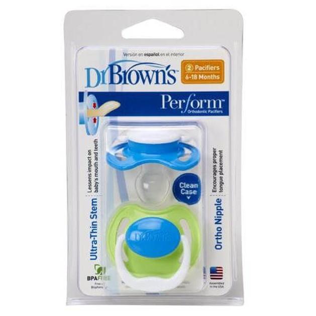 Dr. Brown\'s PreVent PV 240-GB Ορθοδοντική Πιπίλα Σιλικόνης ΕΠΙΠΕΔΟ 2 Για βρέφη από 6 έως 18 μηνών