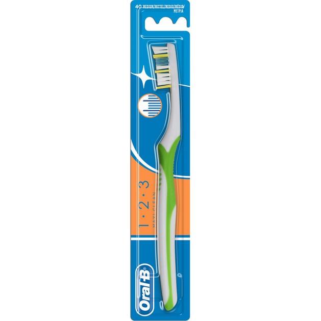 Oral-B 123 Maxi Clean Οδοντόβουρτσα 40 Μέτρια