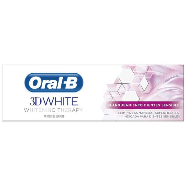 Oral-B 3D White Whitening Therapy Sensitive Οδοντόκρεμα για Απομάκρυνση των Επιφανειακών Λεκέδων από τα Ευαίσθητα Δόντια 75ml