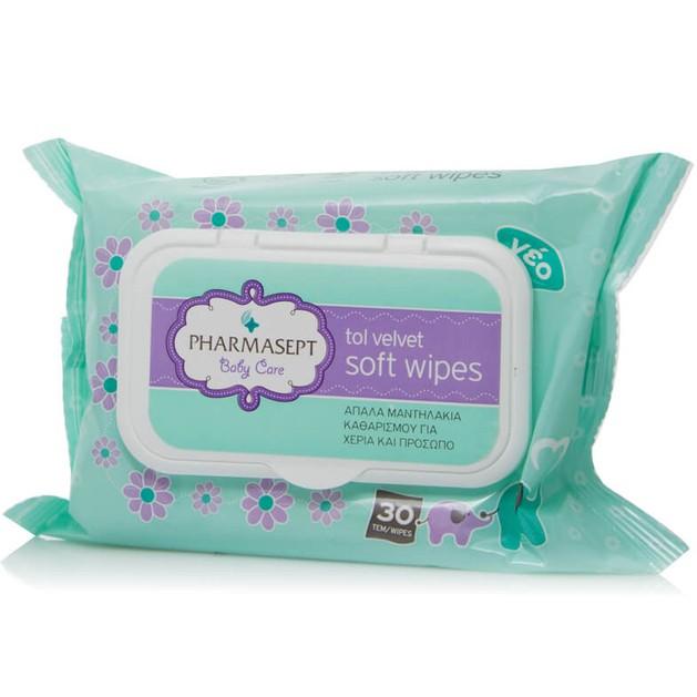 Δώρο Pharmasept Tol Velvet Baby Care Soft Wipes Δερματολογικά Ελεγμένα Απαλά Παιδικά Μαντηλάκια 30τεμάχια