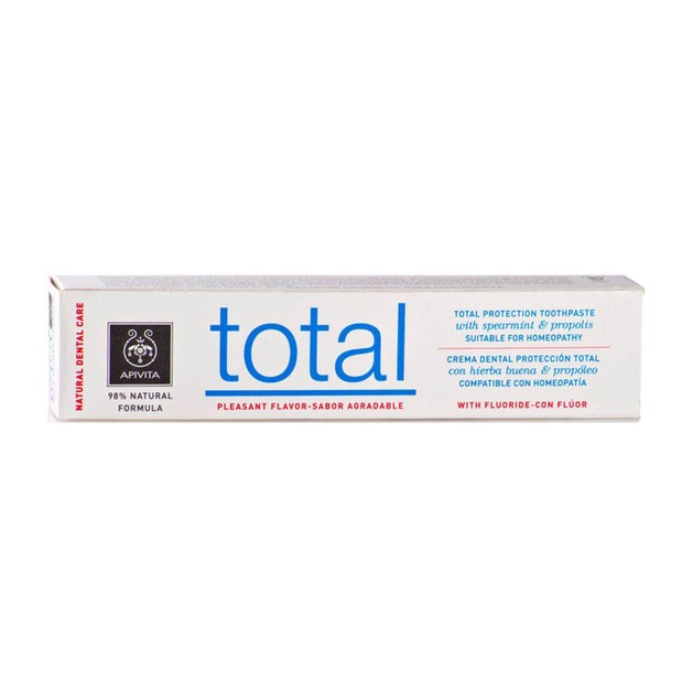 Apivita Natural Dental Care Total Toothpaste With Spearmint & Propolis 75ml