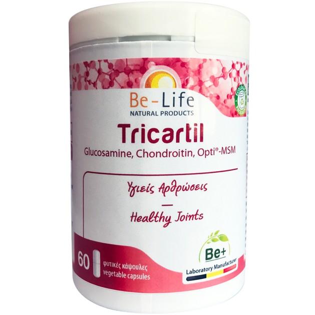 Be-Life Tricartil Glucosamine, Chondroitin, Opti - MSM Συμπλήρωμα Διατροφής για Υγιείς Αρθρώσεις 60caps