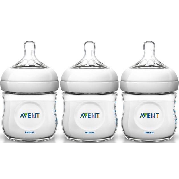 Δώρο Avent Natural Μπιμπερό για Νεογέννητα Πλαστικό Χωρίς BPA 3x125ml