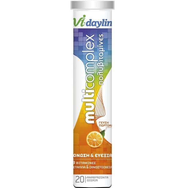 Abbot Vi-Daylin MultiComplex Πολυβιταμίνες για Τόνωση & Ευεξία 20 Αναβράζοντα Δισκία