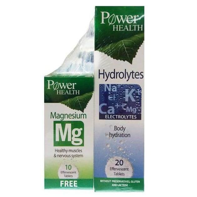 Power Health Hydrolytes Ενυδάτωση & Γρήγορη Αναπλήρωση Ηλεκτρολυτών & Δώρο Αναβράζοντα Δισκία για  Άγχος & Μυϊκό Στρες 20ef.tabs