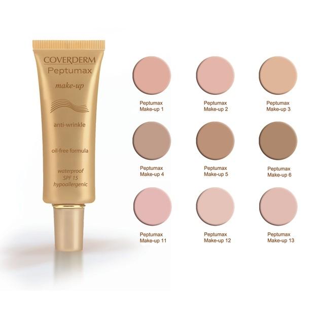 Coverderm Peptumax Make Up Spf15 30ml Αντιρυτιδικό Make Up με Αντηλιακή Προστασία