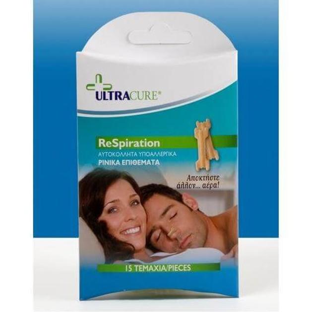 Solace Ultracure Respiration  Ρινικό Αυτοκόλλητο Με Έλασμα 15τμχ