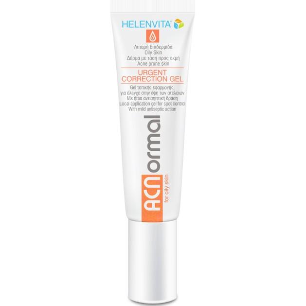 Helenvita ACNormal Urgent Correction Gel For Oily Skin Gel Προσώπου Τοπικής Εφαρμογής Ενάντια στις Ατέλειες 15ml