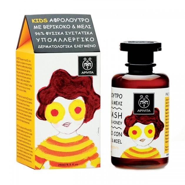 Kids Shower Gel With Apricot & Honey 250ml - Apivita