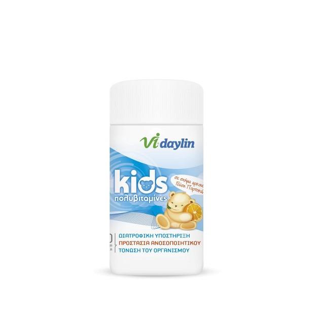 Abbott Vi-Daylin Kids Πολυβιταμίνη για Παιδιά Μασώμενα Δισκία 60 Chew. Tabs