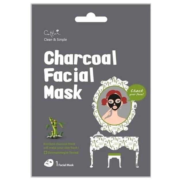 Vican Cettua Charcoal Facial Mask Μάσκα Προσώπου που Καθαρίζει & Συσφίγγει τους Πόρους του Δέρματος, 1 τμχ