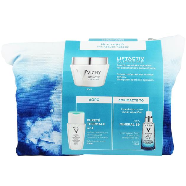 Vichy Πακέτο Προσφοράς Liftactiv Supreme Cream 50ml & Δώρο Vichy Purete Thermale 3 in 1 100ml & Mineral 89 1.5ml