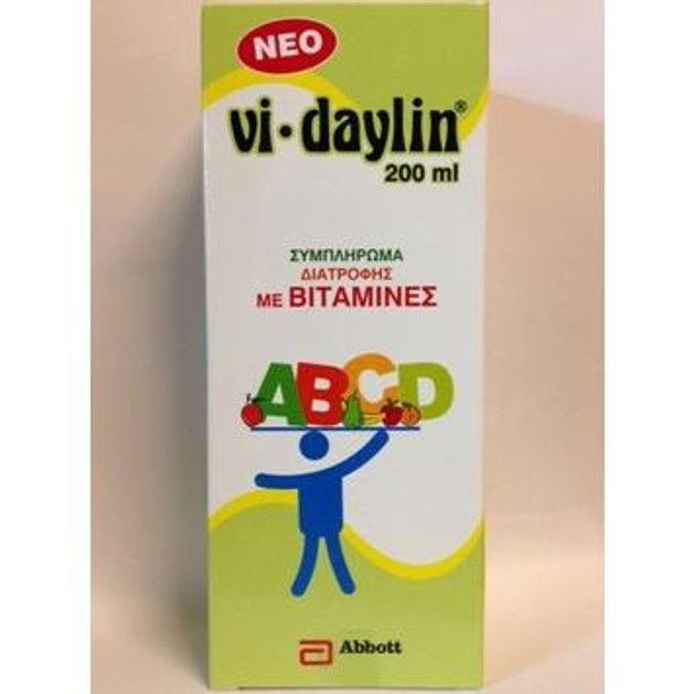 ABBOTT Vi-Daylin Συμπλήρωμα Διατροφής Για Παιδιά σε Σιρόπι 200ml