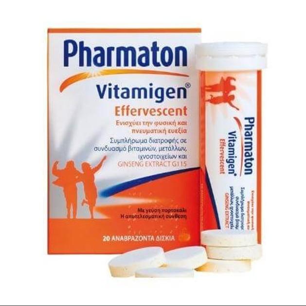 Pharmaton Vitamigen Πολυβιταμίνες 20 αναβράζοντα δισκία