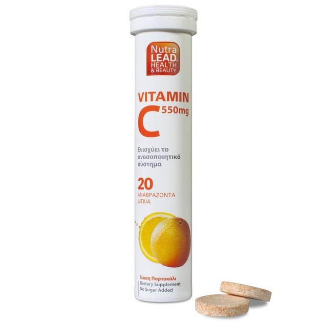Nutralead Βιταμίνη C 550mg 20 Αναβρ. Δισκία