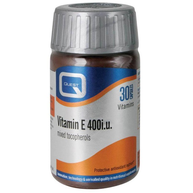 Quest Vitamins Vitamin E 400iu Mixed Tocopherols Φυσική Πηγή Βιταμίνης E 30caps