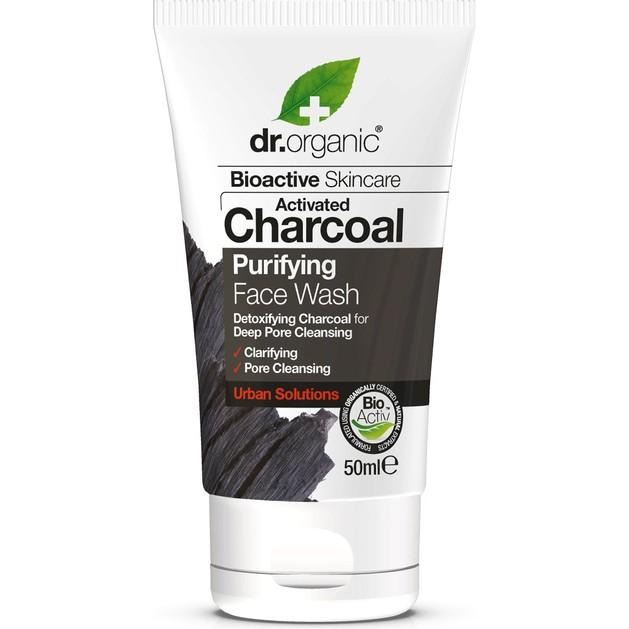 Dr.Organic Charcoal Face Wash Καθαριστικό Προσώπου με Ενεργό Άνθρακα 200ml