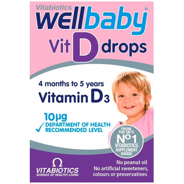 Vitabiotics Wellbaby Vit D Drops Vitamin D3 10mg 30ml
