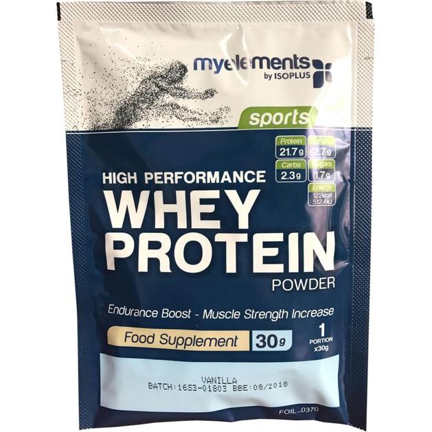 MyElements Sports High Performance Whey Protein Powder Συμπλήρωμα Διατροφής Υψηλής Ισχύος Πρωτεΐνη από 100% Ορό Γάλακτος 30gr