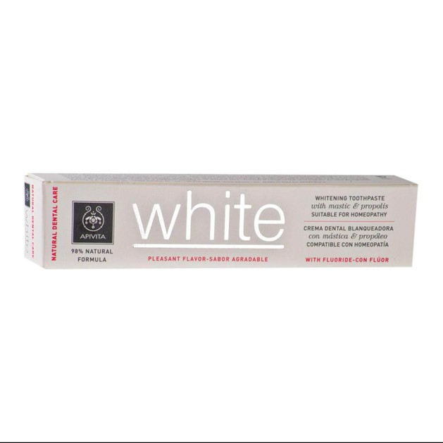 Apivita Natural Dental Care White Toothpaste With Mastic & Propolis 75ml