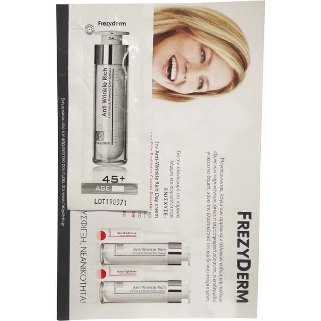 Δείγμα Frezyderm Anti-Wrinkle Rich Day Cream 45+ Αντιρυτιδική Κρέμα Ημέρας με Συσφικτική & Επανορθωτική Δράση 2ml