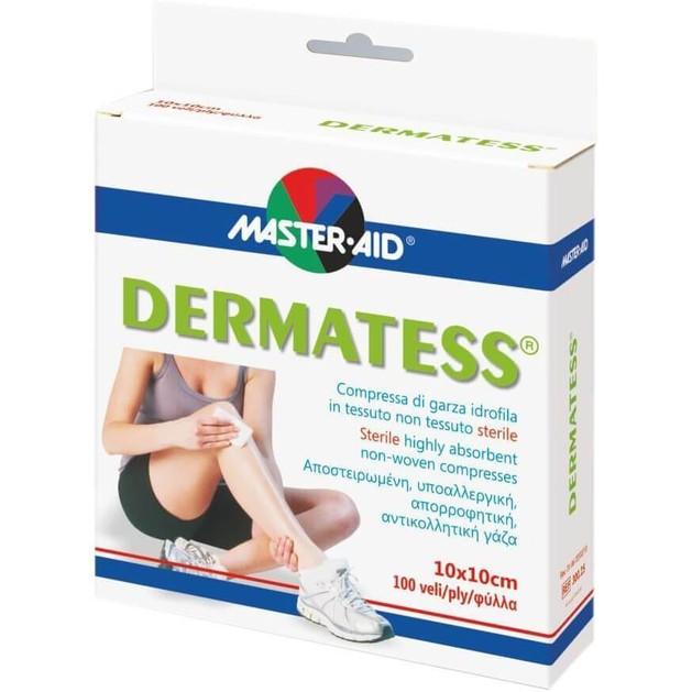 Master Aid Dermatess Αντικολλητικές Γάζες 12τεμ.