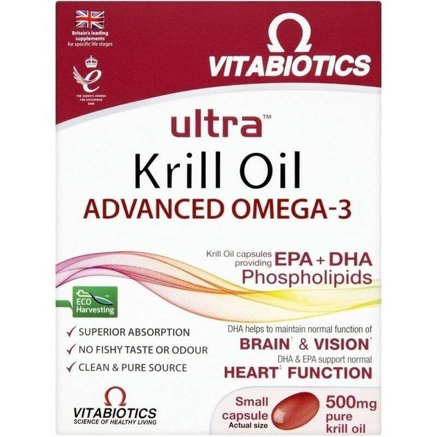 Vitabiotics Ultra Red Krill Oil Super Strength 500mg 30caps